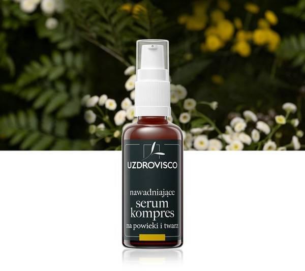 Nawadniające serum - kompres 3w1 na powieki i twarz - świetlik (50ml) serum naparowe
