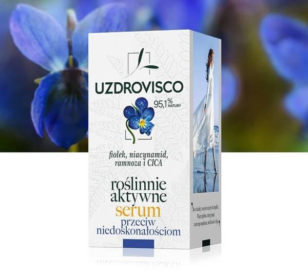 Roślinnie aktywne serum przeciw niedoskonałościom - fiołek (30 ml)