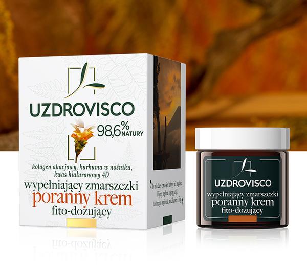 Wypełniający zmarszczki krem poranny fito-dozujący - kurkuma (50 ml) krem przeciwzmarszczkowy na dzień